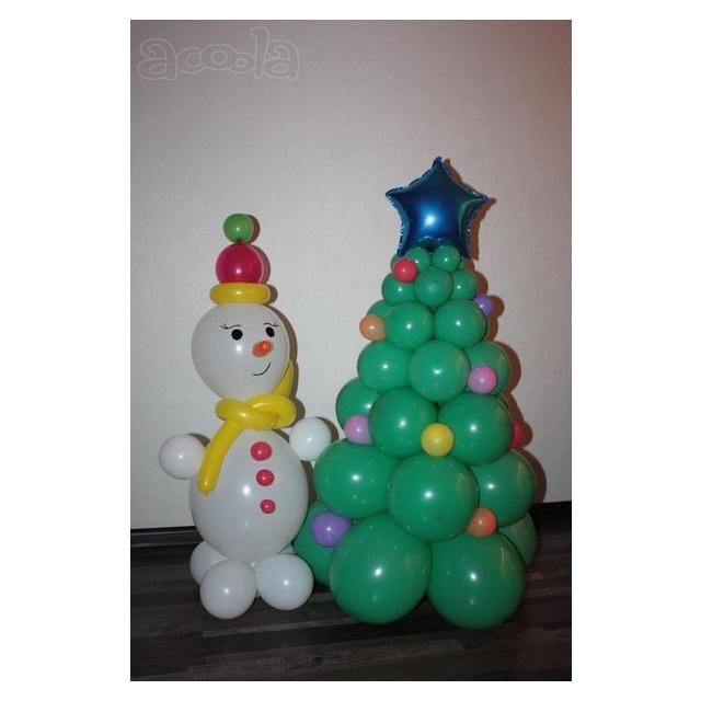 Снеговик и новогодняя ёлочка