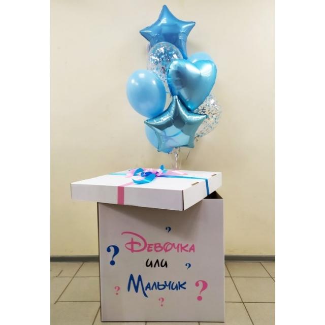 """Коробка - сюрприз 1 """"Мальчик или девочка""""."""