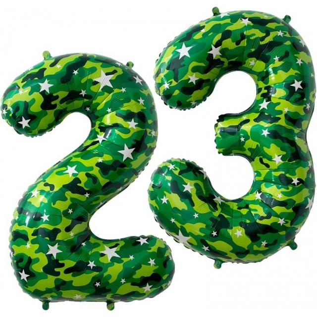 """Фольгированные цифры """"23"""" Хакки"""